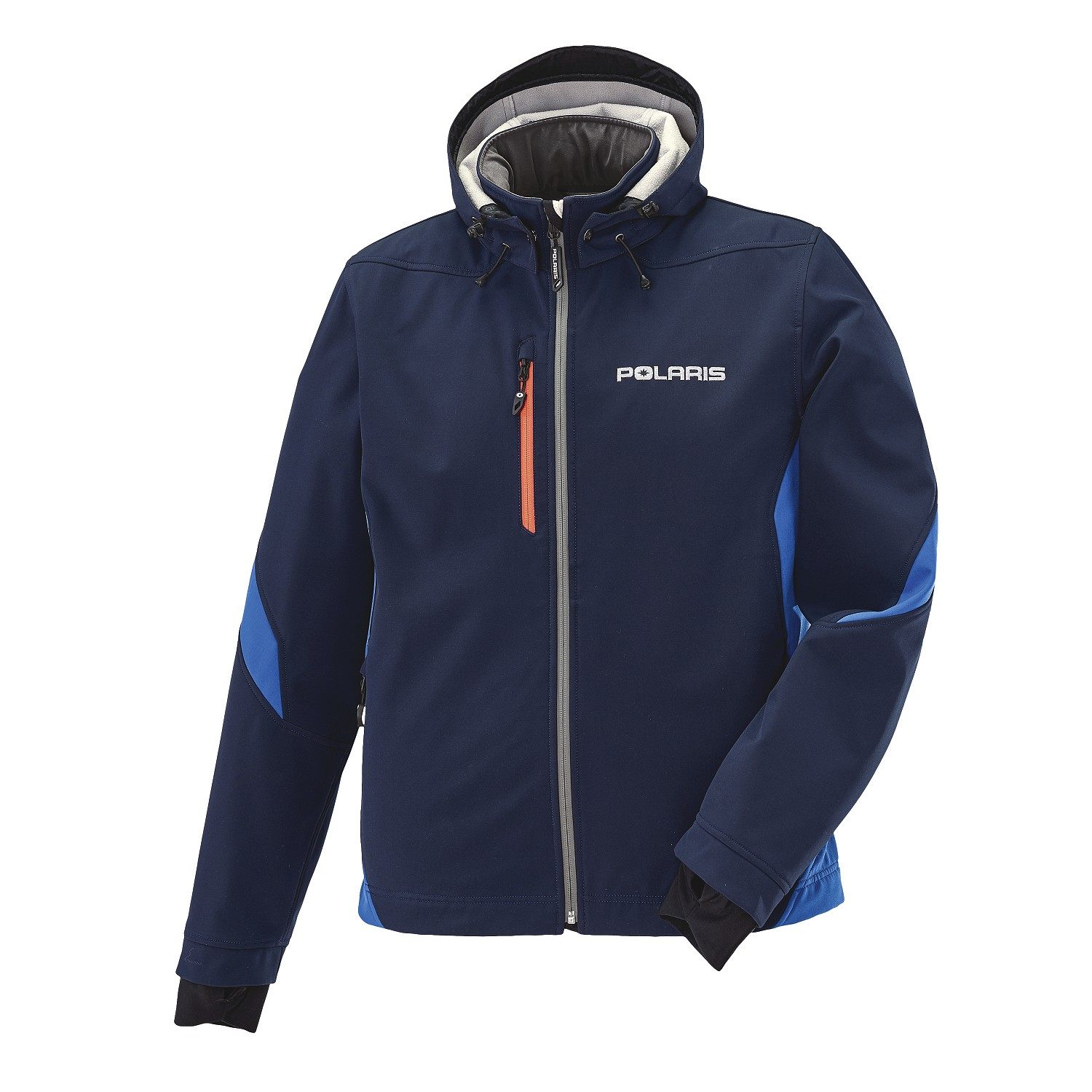 Men's Softshell Jacket with White Polaris® Logo, Navy