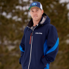 Men's Softshell Jacket with White Polaris® Logo, Navy - Image 3 de 5