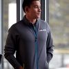 Men's Full-Zip Mid Layer Jacket with White Polaris® Logo, Gray - Image 3 de 3