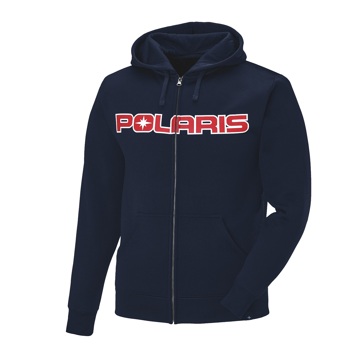 Men's Full-Zip Core Hoodie Sweatshirt with Polaris® Logo, Navy