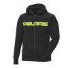 Men's Full-Zip Core Hoodie Sweatshirt with Polaris® Logo, Black/Lime - Image 1 de 4
