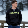 Men's Full-Zip Core Hoodie Sweatshirt with Polaris® Logo, Black/Lime - Image 3 de 4