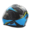 Modular 2.0 Adult Helmet with Electric Shield, Blue/Lime - Image 4 of 8