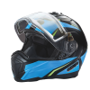 Modular 2.0 Adult Helmet with Electric Shield, Blue/Lime - Image 5 of 8