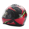 Modular 2.0 Adult Helmet with Electric Shield, Red/Lime - Image 5 of 8