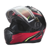 Modular 2.0 Adult Helmet with Electric Shield, Red/Lime - Image 6 of 8