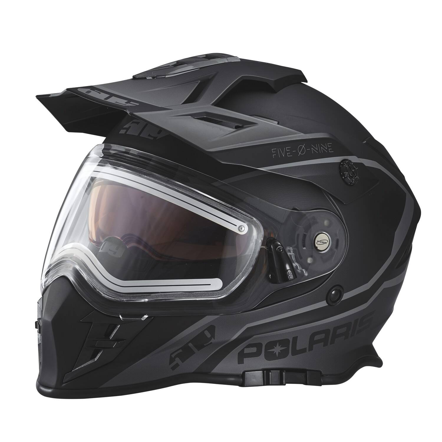 509® Delta Adult Moto Helmet with Removable Electric Shield, Black