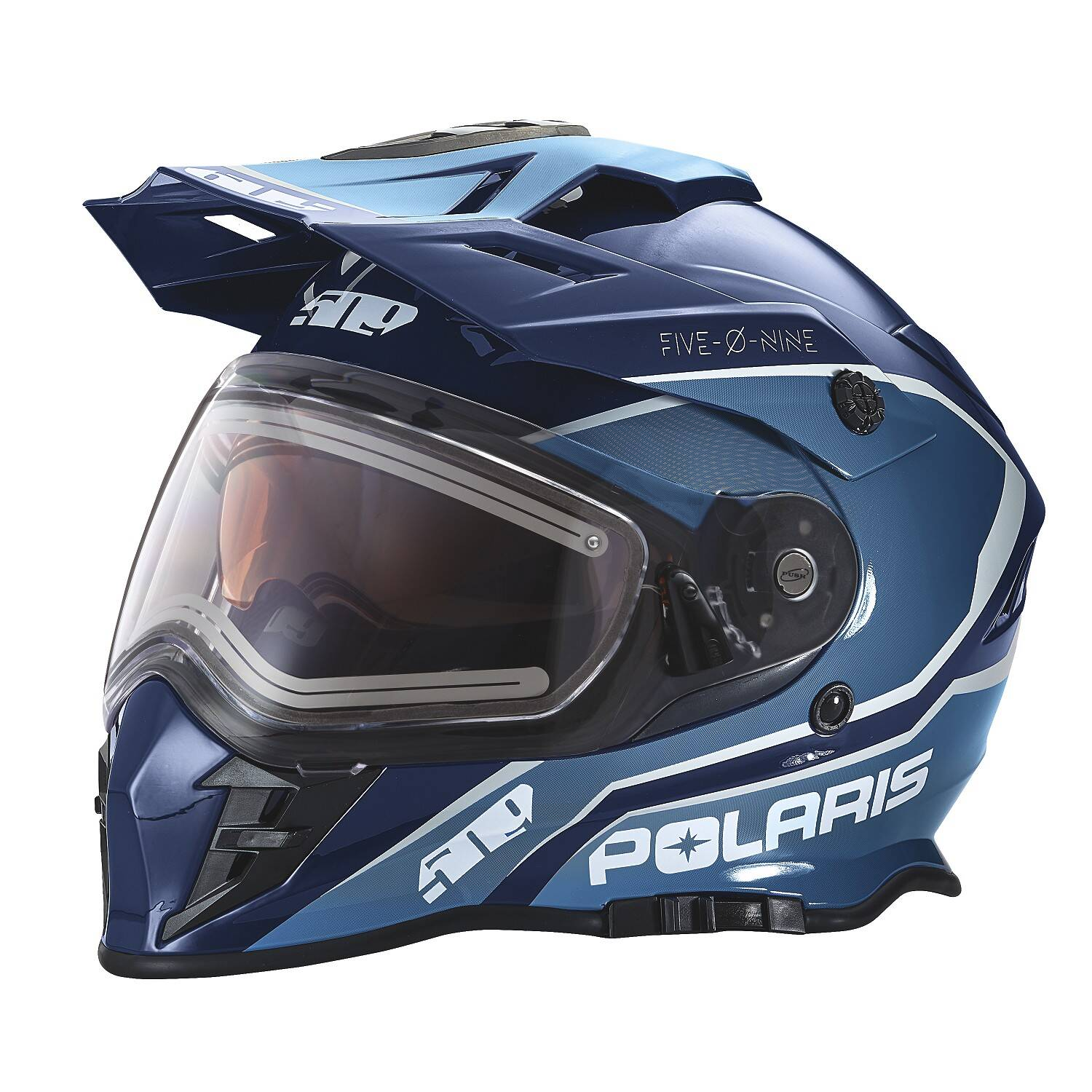 509® Delta Adult Moto Helmet with Removable Electric Shield, Blue