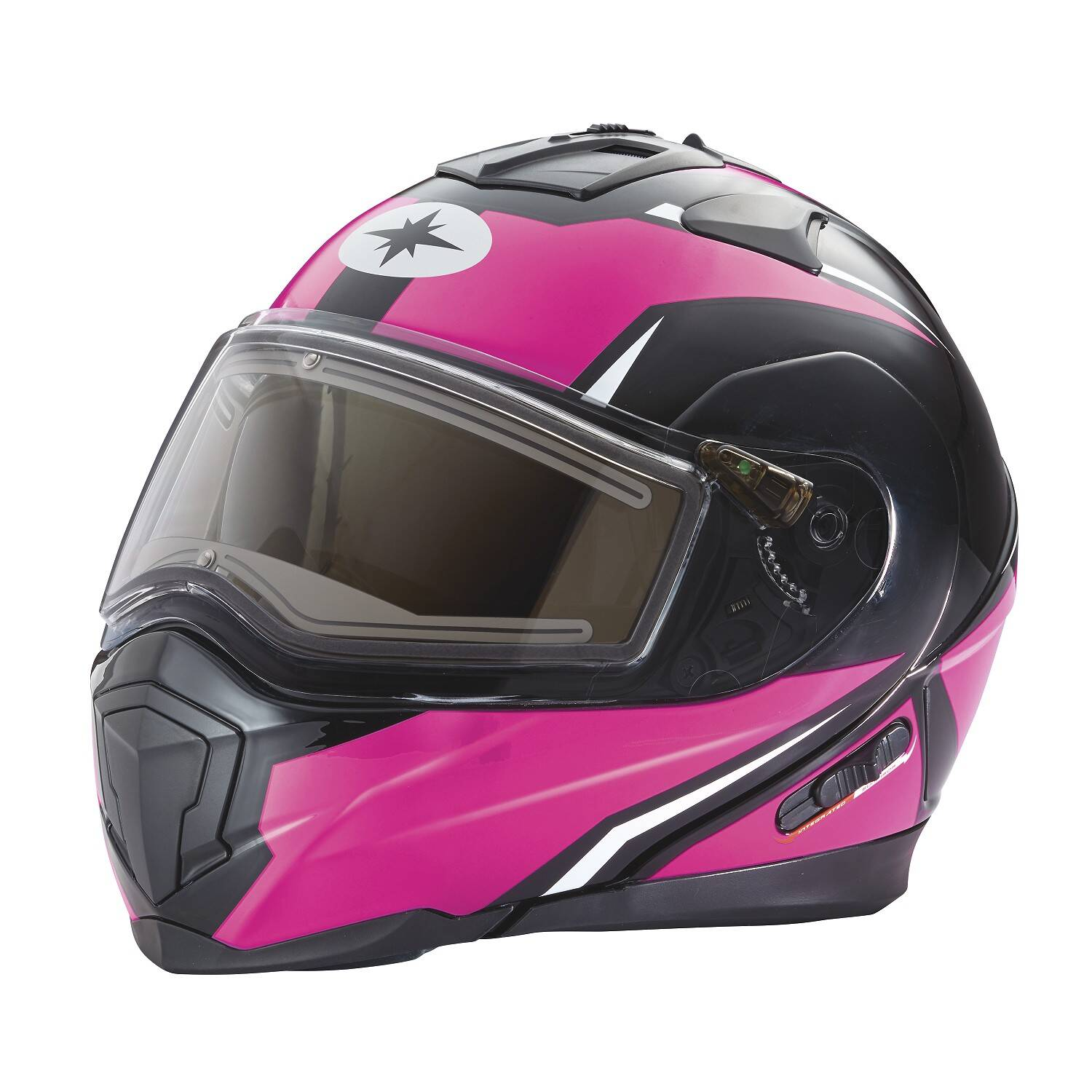 Modular 2.0 Adult Helmet with Electric Shield, Black/Pink