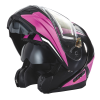 Modular 2.0 Adult Helmet with Electric Shield, Black/Pink - Image 7 of 9
