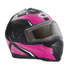 Modular 2.0 Adult Helmet with Electric Shield, Black/Pink - Image 3 of 9