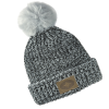 Women's Knit POM Beanie with Leather Polaris® Patch, Black - Image 1 of 2