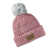 Women's Knit POM Beanie with Leather Polaris® Patch, Pink - Image 1 of 1