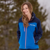 Women's Softshell Jacket with White Polaris® Logo, Blue - Image 3 of 3