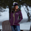 Women's Softshell Jacket with White Polaris® Logo, Purple - Image 3 of 4