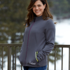 Women's Full-Zip Mid Layer Jacket with White Polaris® Logo, Gray - Image 3 de 3