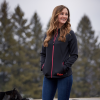 Women's Full-Zip Mid Layer Jacket with Pink Polaris® Logo, Black - Image 3 de 3