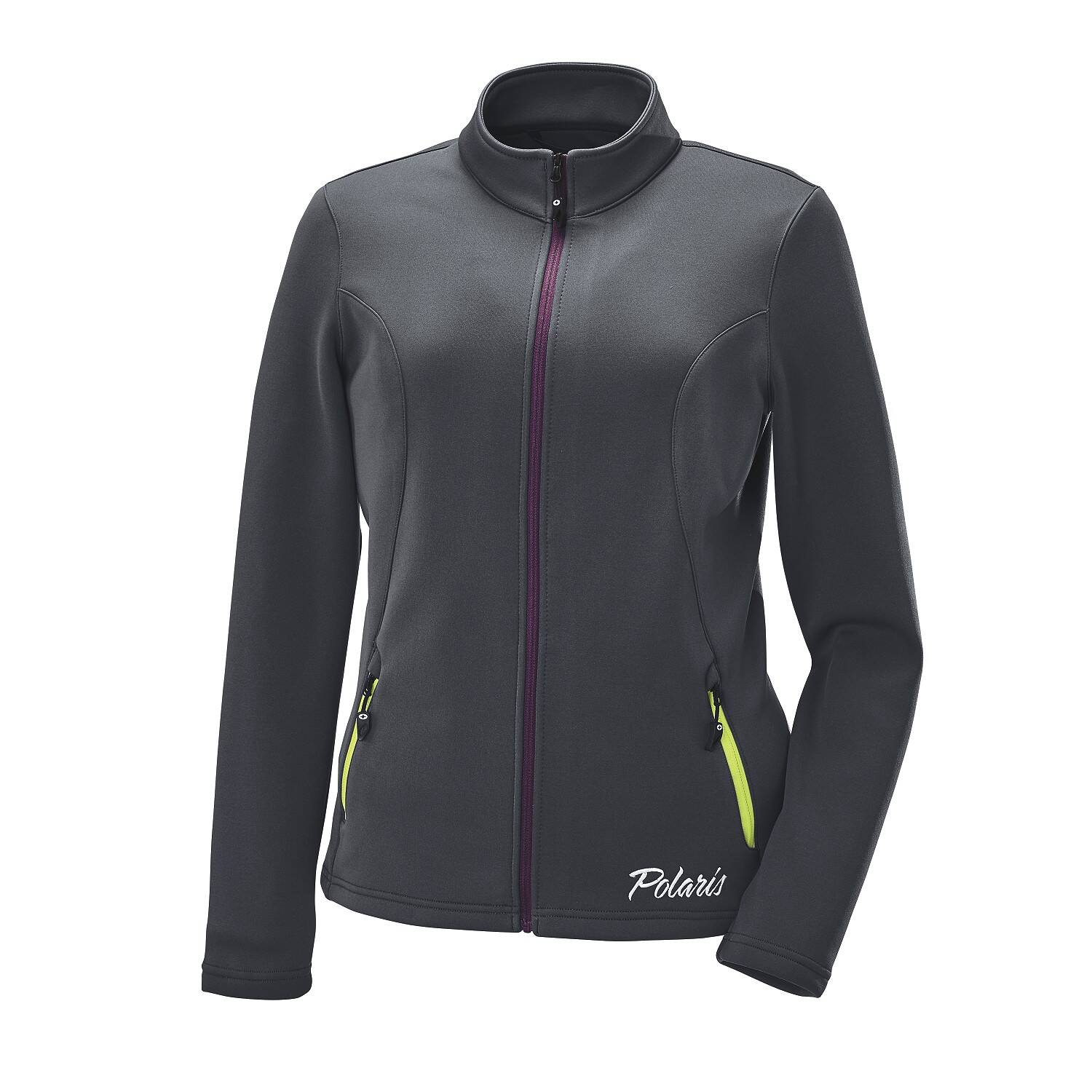 Women's Full-Zip Mid Layer Jacket with White Polaris® Logo, Gray