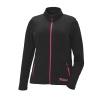 Women's Full-Zip Mid Layer Jacket with Pink Polaris® Logo, Black - Image 1 de 3