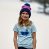 Youth Scenic Graphic T-Shirt with Polaris® Logo, Navy Heather - Image 2 de 3